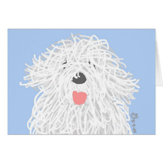 Old English Sheepdog Puppy Card