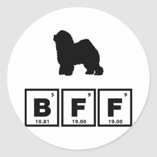 Old English Sheepdog Round Sticker