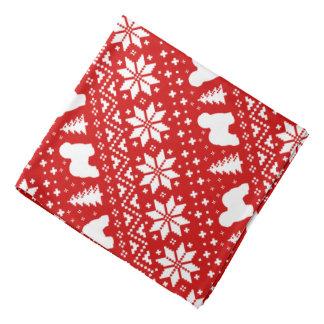 Old English Sheepdog Silhouettes Christmas Pattern Bandana