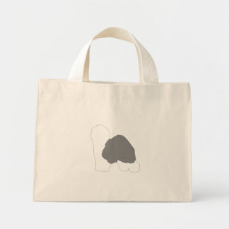 old english sheepdog silo color mini tote bag