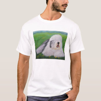 Old English Sheepdog T-Shirt By Sharon Nummer