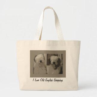 Old English Sheepdog Tote Jumbo Tote Bag