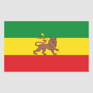 Old Ethiopian flag Rectangular Sticker