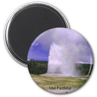 Old Faithful in Yellowstone National Park Magnet