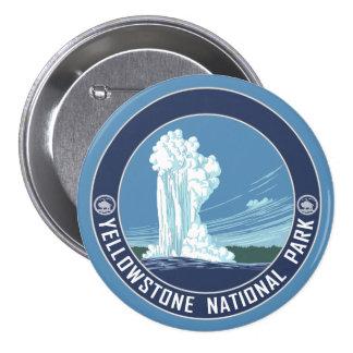 Old Faithful - Yellowstone National Park 7.5 Cm Round Badge