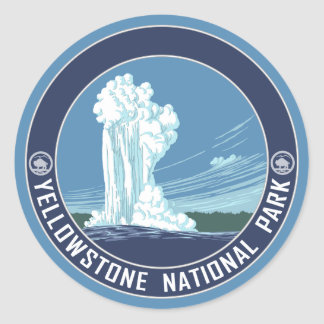 Old Faithful - Yellowstone National Park Classic Round Sticker