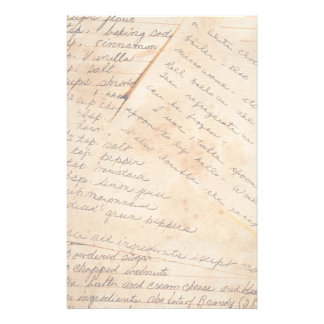 Old Family Recipes Stationery