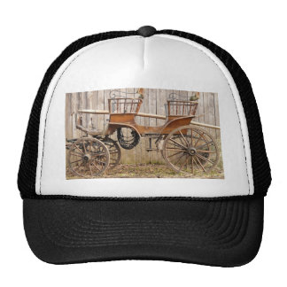 Old Fancy Horse Coach Buggy Mesh Hat