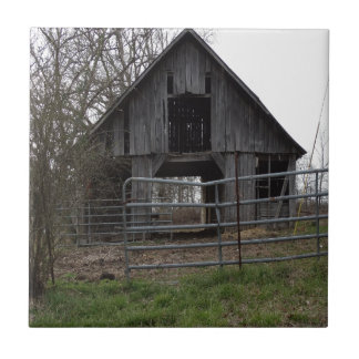 Old Farm Barn Small Square Tile