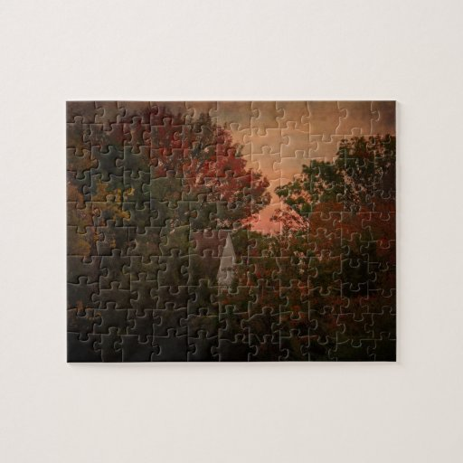 Old Farm House in Autumn Woods puzzle