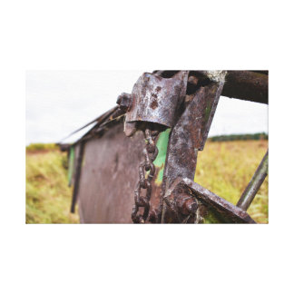 old farm machinery canvas print