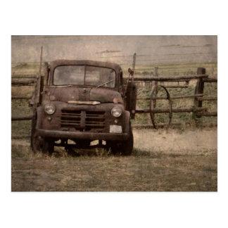 Old Farm Truck Postcard