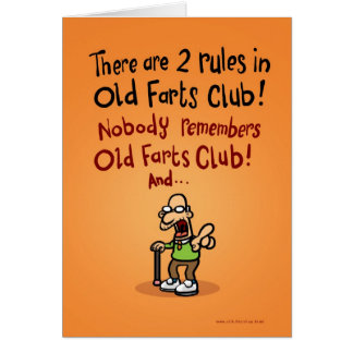 Old Farts Club Greeting Cards