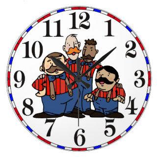 Old Fashion Barbershop Quartet 2 Large Clock