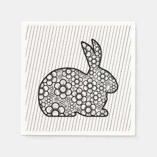 Old Fashion Bunny Easter Paper Napkins