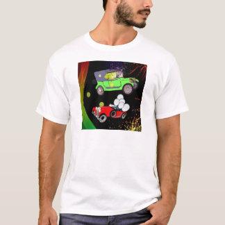 Old fashion car plenty of tennis balls and rakets. T-Shirt