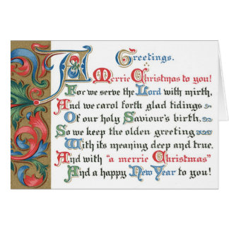 Old Fashion Christmas Cards Religious Card