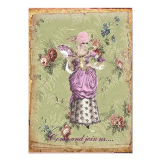 "Old- Fashion Marie invitation 5"" X 7"" Invitation Card"