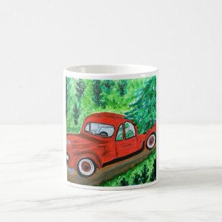 Old fashion Red Truck Coffee Mug