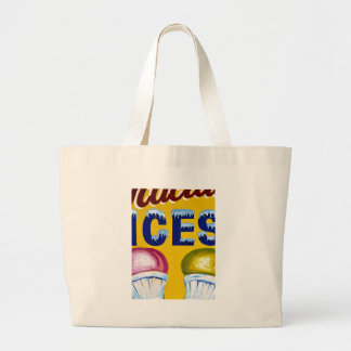 Old Fashion Signs: ICES! Canvas Bags