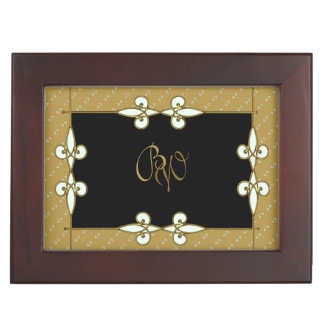 Old Fashion Victorian Vintage Art Deco Monogram Keepsake Box
