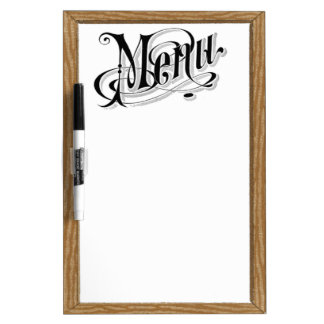 Old Fashion Vintage Looking Menu Dry Erase Whiteboards