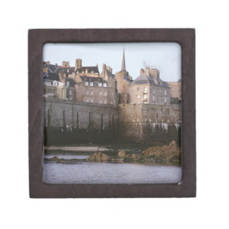 Old-fashioned architecture, Brittany, France Premium Trinket Boxes