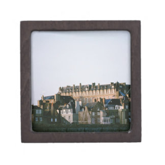 Old-fashioned architecture in Brittany Premium Keepsake Boxes
