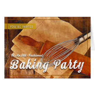 Old-Fashioned Baking Party Invitation