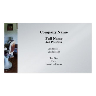 Old Fashioned Barber Chair - Platinum Finish Pack Of Standard Business Cards