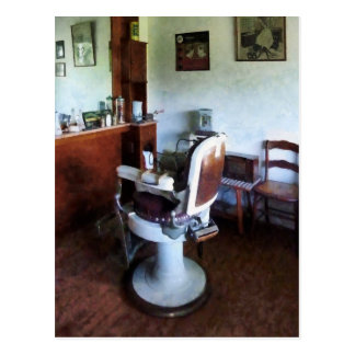 Old-Fashioned Barber Chair Postcard