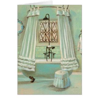 Old Fashioned Bathroom Greeting Card