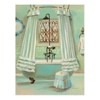 Old Fashioned Bathroom Post Card