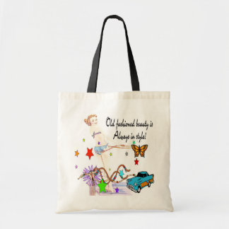 Old Fashioned Beauty Totebag Canvas Bag