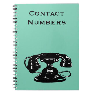 Old Fashioned Black Dial Phone Notebook