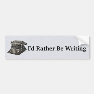 Old Fashioned Black Typewriter for Writers Bumper Sticker
