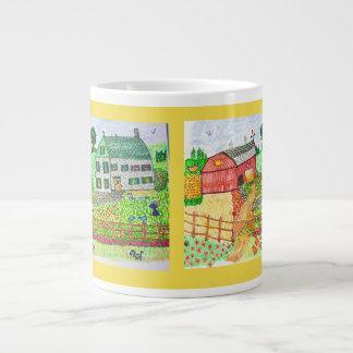 Old Fashioned Ccuntry Farmyard Large Coffee Mug