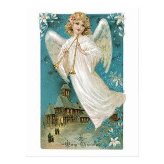 Old Fashioned Christmas Angel Postcard