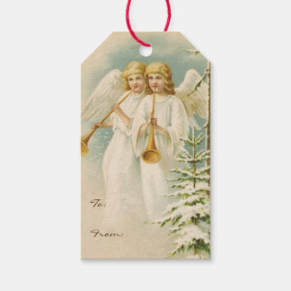 Old Fashioned Christmas Angels Gift Tags