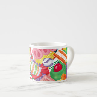 Old Fashioned Christmas Candy Espresso Mug