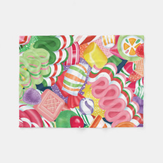 Old Fashioned Christmas Candy Fleece Blanket