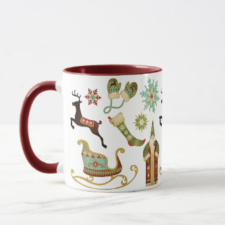 Old Fashioned Christmas Images Mug