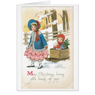 Old-fashioned Christmas, Sled Card