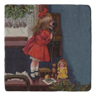 Old Fashioned Christmas telephone Trivet