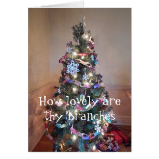 Old Fashioned Christmas Tree Card