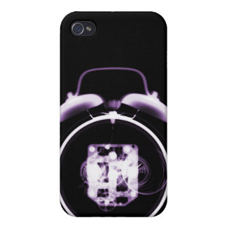 Old Fashioned Clock X-Ray Vision - Black & Purple iPhone 4/4S Cases