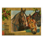 Old fashioned country Merry Christmas Greeting Cards