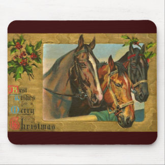 Old fashioned country Merry Christmas Mouse Pad