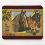 Old fashioned country Merry Christmas Mousepad