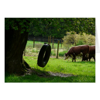 Old Fashioned Country Tire Swing Card